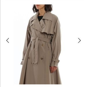 MaxMara 2020 Flaster Trench Coat Taupe NWOT